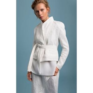 New IRO Jacquard Jacket/Blazer White Belted